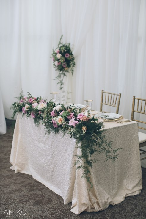 sophisticated floral designs portland oregon wedding florist sequin linen