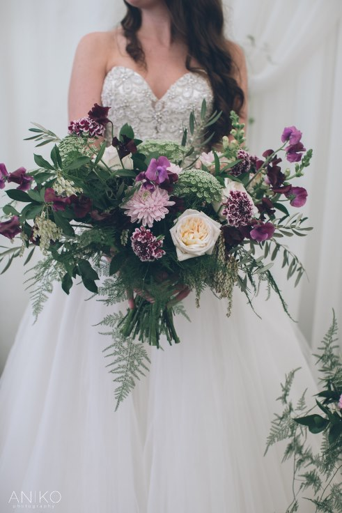 bridal bouquet organic garden style loose oversized bespoke by sophisticated floral designs