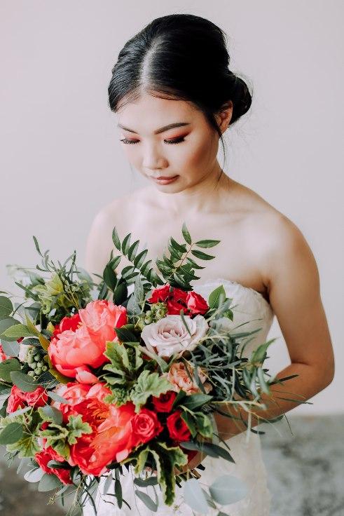 sophisticated floral designs portland florist peony garden bouquet