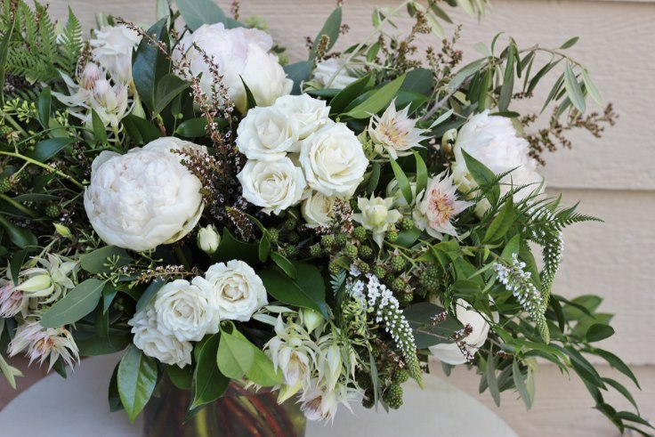 sophisticated floral designs portland oregon florist bouquet with ferns
