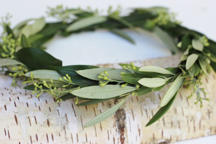 sophisticated floral designs portland oregon florist foliage olive branch flower crown halo wreath
