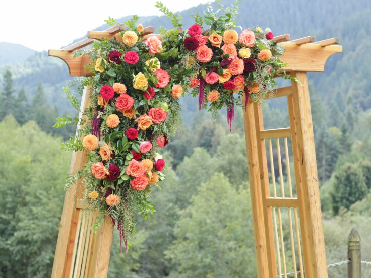 sophistiated floral designs portland oregon wedding florist asymmetrical wedding floral arbor fall wedding ideas