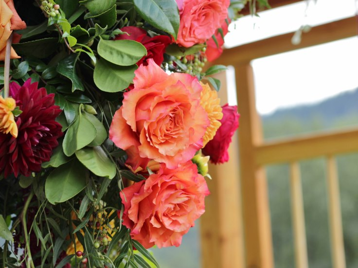 sophistiated floral designs portland oregon wedding florist garden roses orange arbor flowers
