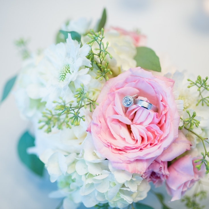 sophisticated floral designs portland oregon wedding florist Nines Hotel wedding rings