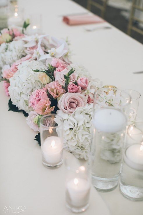 sophisticated floral designs portland oregon wedding florist-oregon-golf-club-wedding-aniko head table flowers and candles