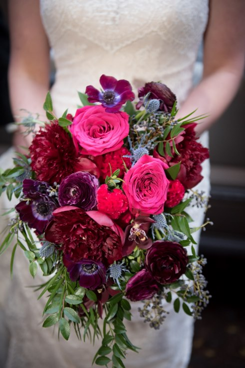sophisticated floral designs portland oregon wedding florist blum berry navy burgundy bridal bouquet