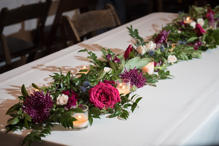 sophisticated floral designs portland oregon wedding florist berry navy flowers floral garland