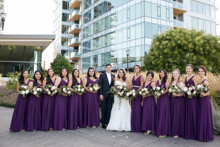 sophisticated floral designs portland oregon wedding florist sentinel hotel george street photo bridal bliss wedding planning large bridal party