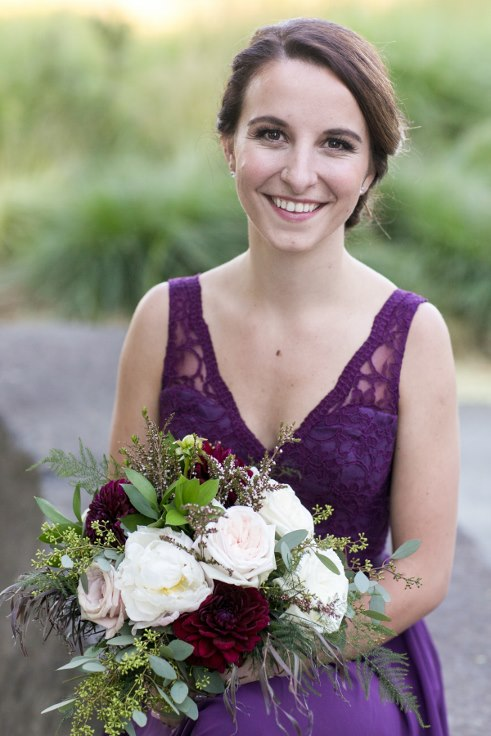 sophisticated floral designs portland oregon wedding florist sentinel hotel george street photo bridal bliss wedding planning blush pink and plum purple bridesmaid bouquet