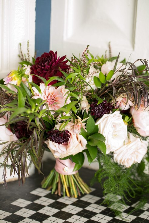 sophisticated floral designs portland oregon wedding florist sentinel hotel george street photo bridal bliss wedding planning blush and plum dahlia bouquet