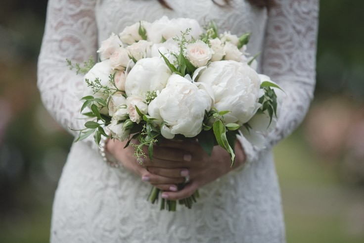 sophisticated floral designs portland oregon wedding florist white peony blush roses bridal bouquet