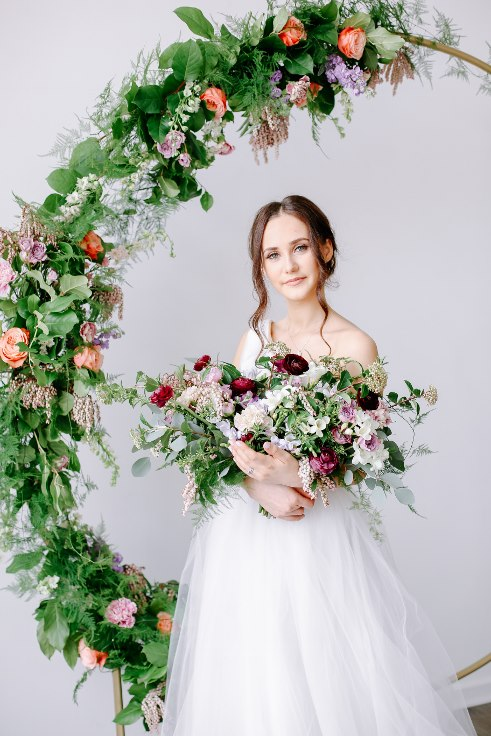 sophisticated floral designs portland oregon wedding florist floral hoop round arbor moon gate arch (17).jpg