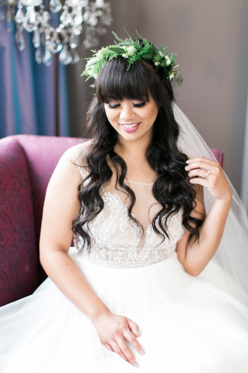 sophisticated floral designs Mcmenamins Roadhouse bridal floral crown