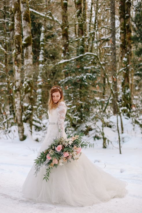 sophisticated floral designs portland oregon winter wedding flowers blush pink spotted stills photography