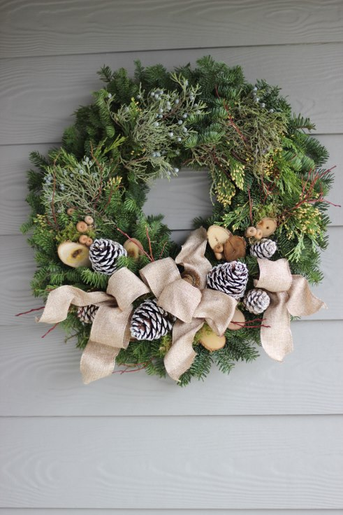 sophisticated floral designs portland oregon wedding florist modern christmas wreath (9) (491x736).jpg