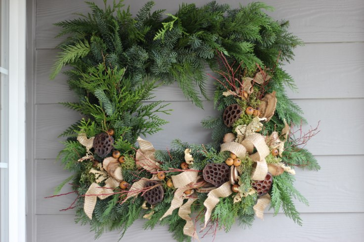 sophisticated floral designs portland oregon wedding florist modern christmas wreath (10) (736x491).jpg