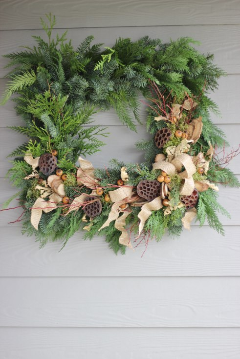 sophisticated floral designs portland oregon wedding florist modern christmas wreath (11) (491x736).jpg