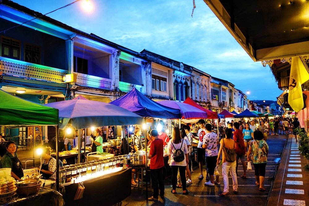 Local Street Food Market In Phuket Old Town Living In
