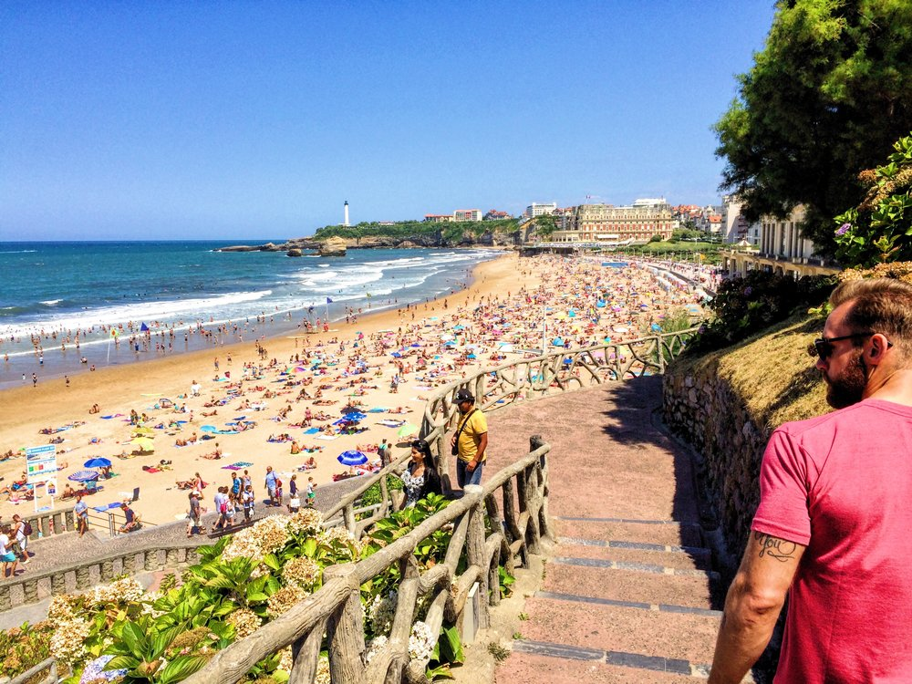 Go for a run  along the boardwalk which goes along all of the beaches in Biarritz.