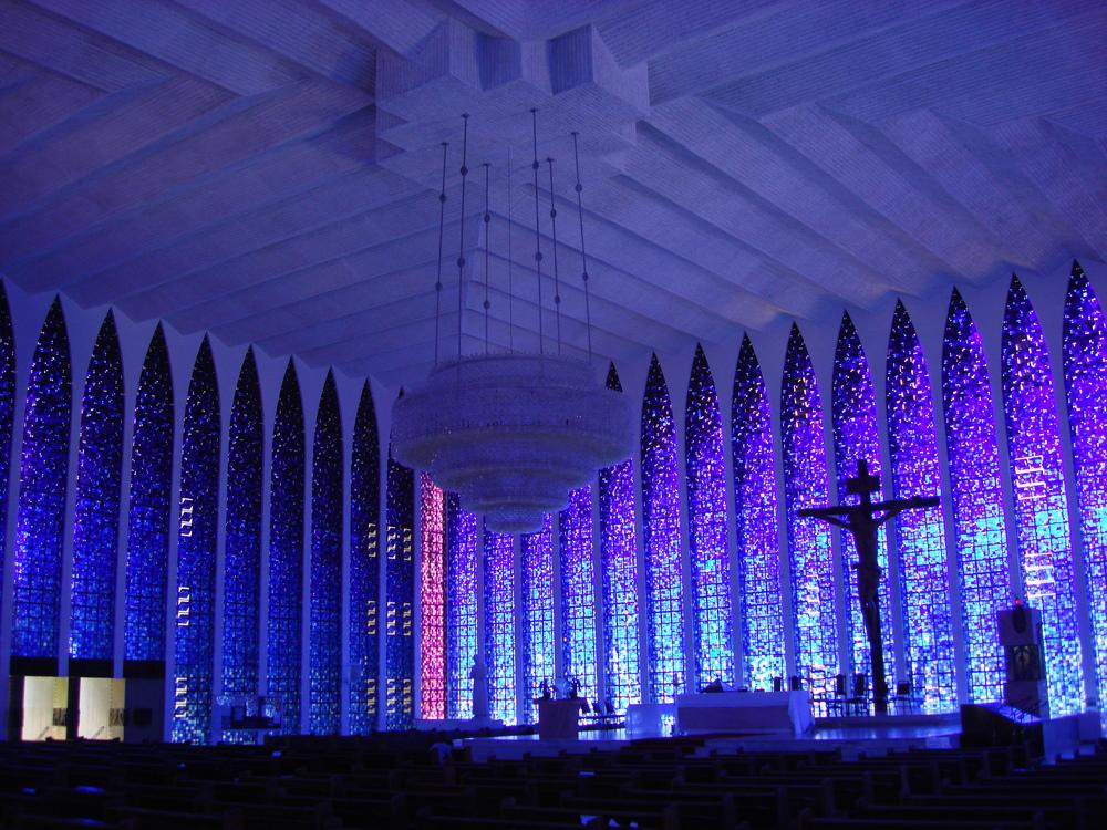 """Die """"blaue Kirche"""" in Brasilia"""