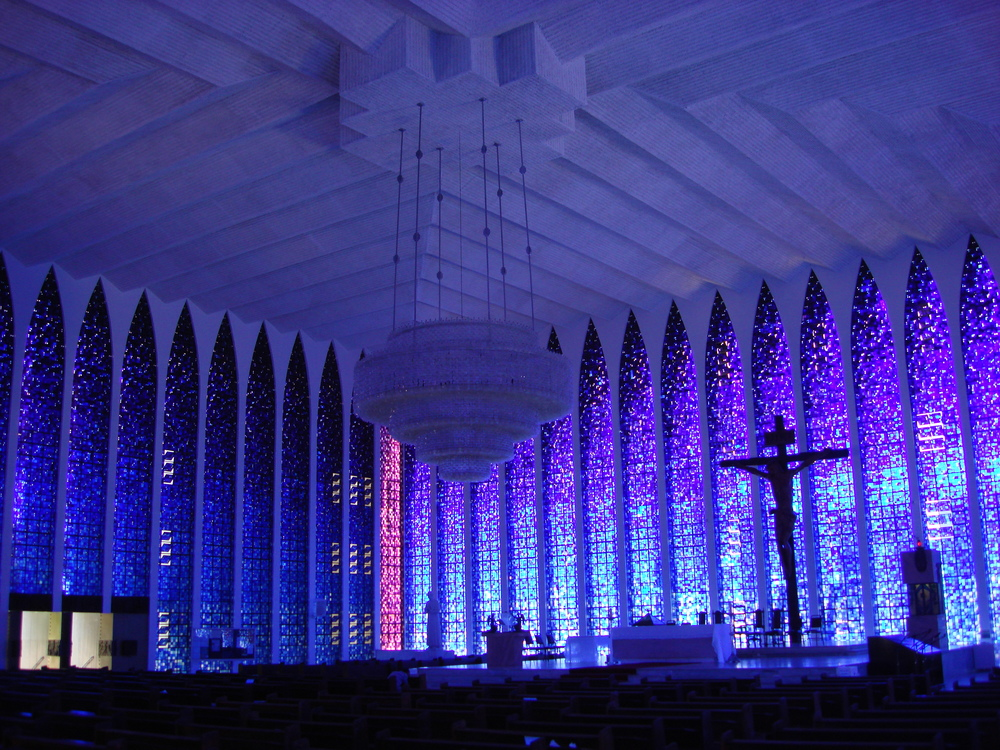"The ""Blue Church"" in Brasilia."