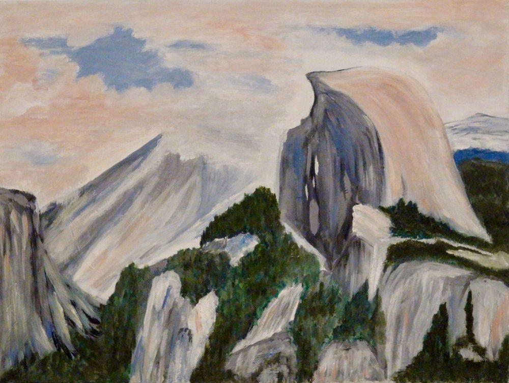 """""""Half Dome"""" - Oil, 24""""x18"""" (2016)"""