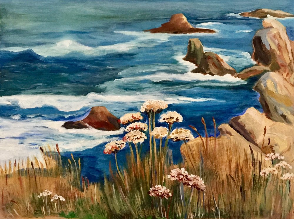 """Wild Coast at Sea Ranch""  (Oil 16""x 20"" - 2014)"