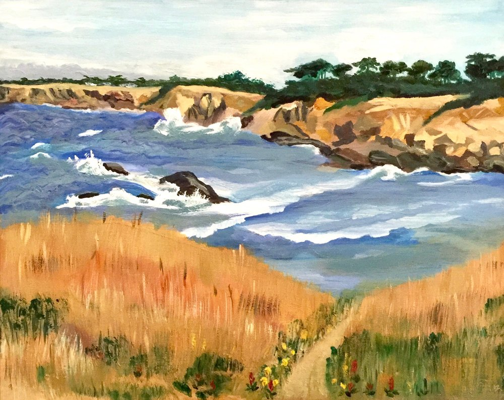 """Bluff Trail at Sea Ranch""  (Oil, 16""x 20"" - 2014)"