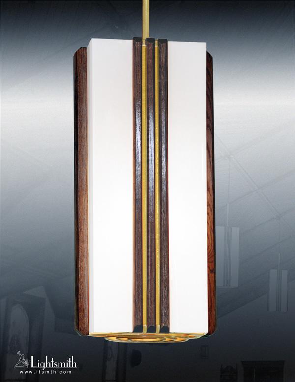 212-PC - DarkOak -Amber Acrylic Accents