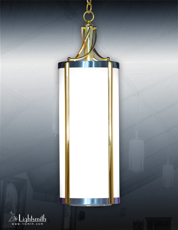 512-PC - Satin Aluminum - Polished Brass Accents