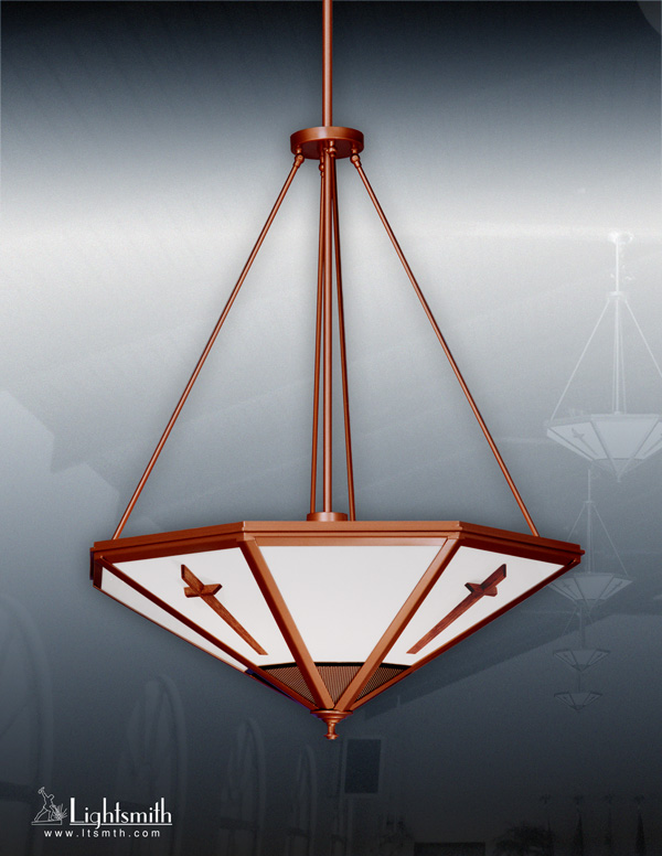 1736-PC - Sponged Copper - Medium Oak Crosses