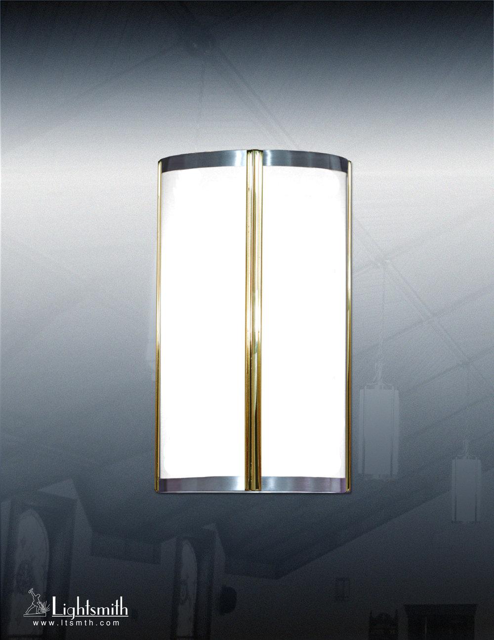 510-WC - Polished Brass - Satin Aluminum