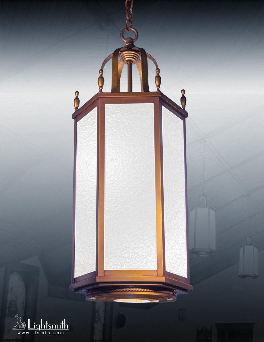 1814-PT - Medium Bronze - White Opal Glass
