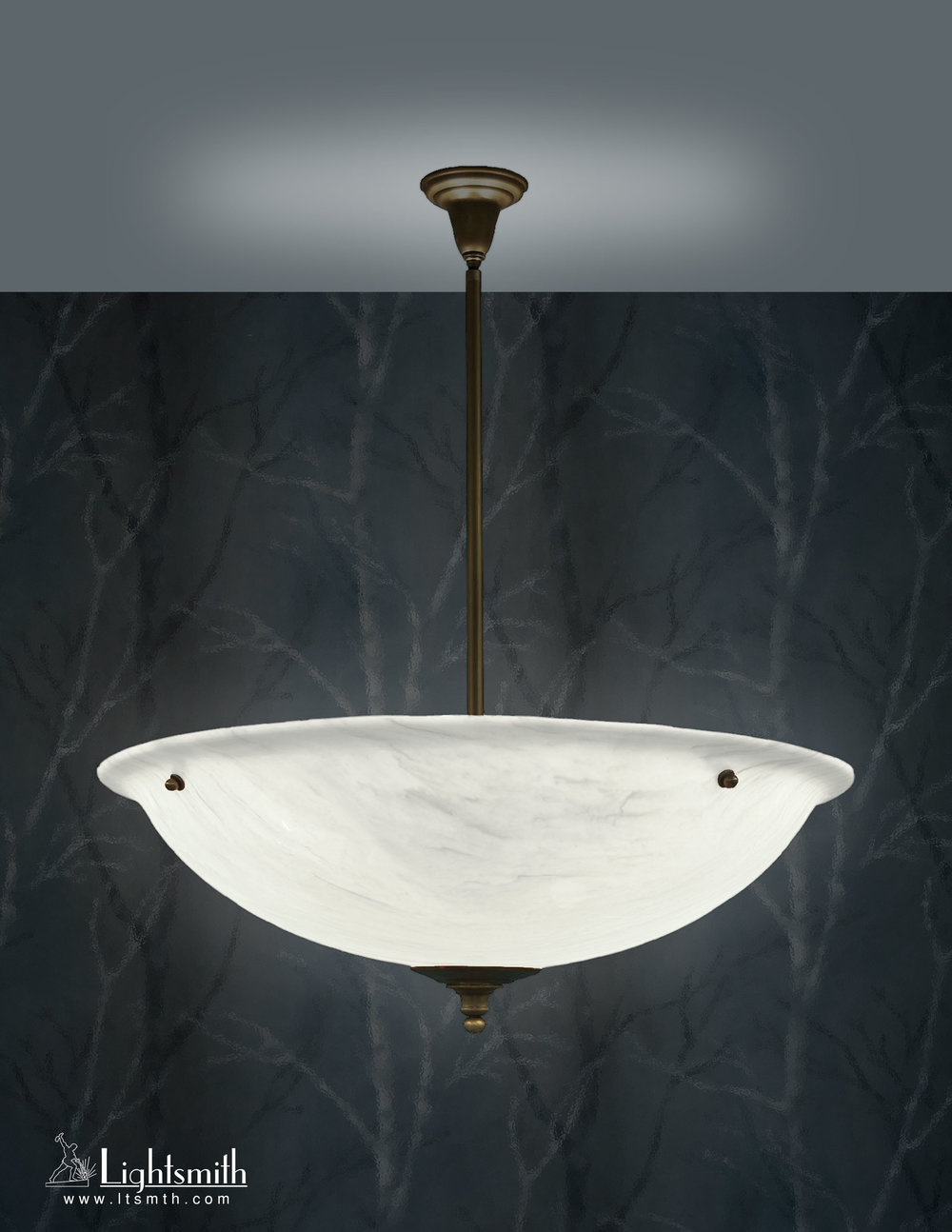 PD-5311 - Oil Rubbed Bronze - White Alabaster Acrylic