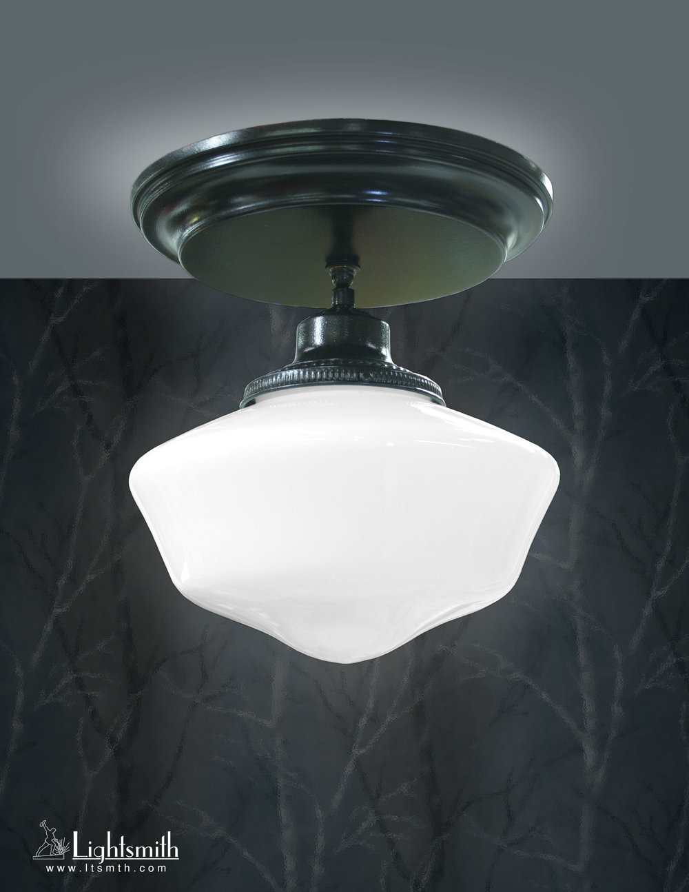CL-3101 - Satin Black - School House Shade
