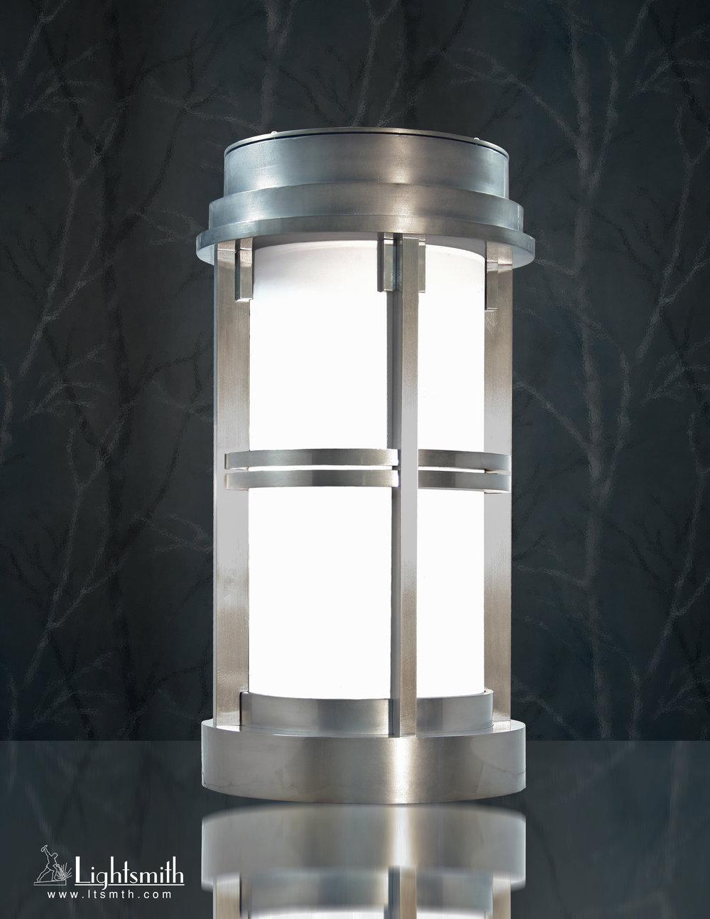 BL-3710 - Satin Aluminum - White Opal Acrylic