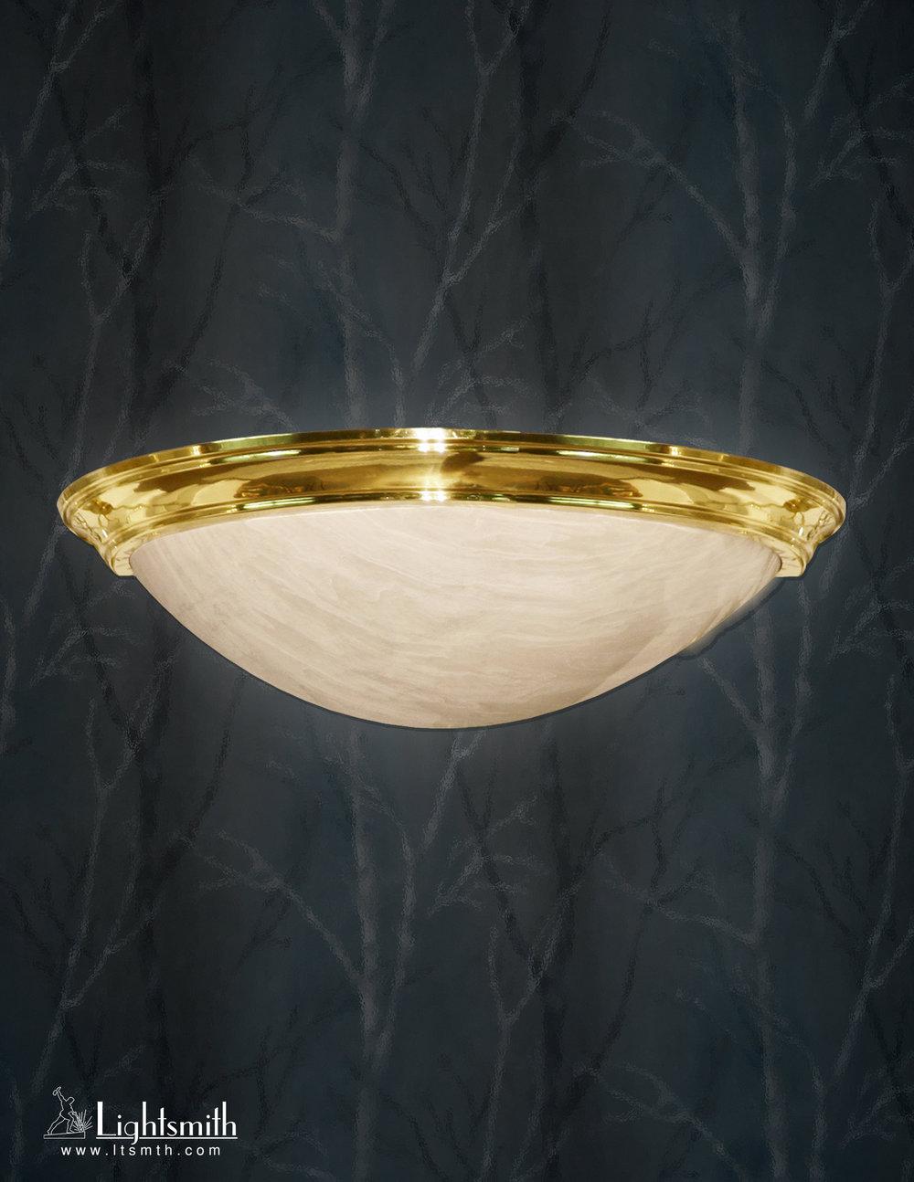 SC-2905  Polished Brass Beige Alabaster Acrylic