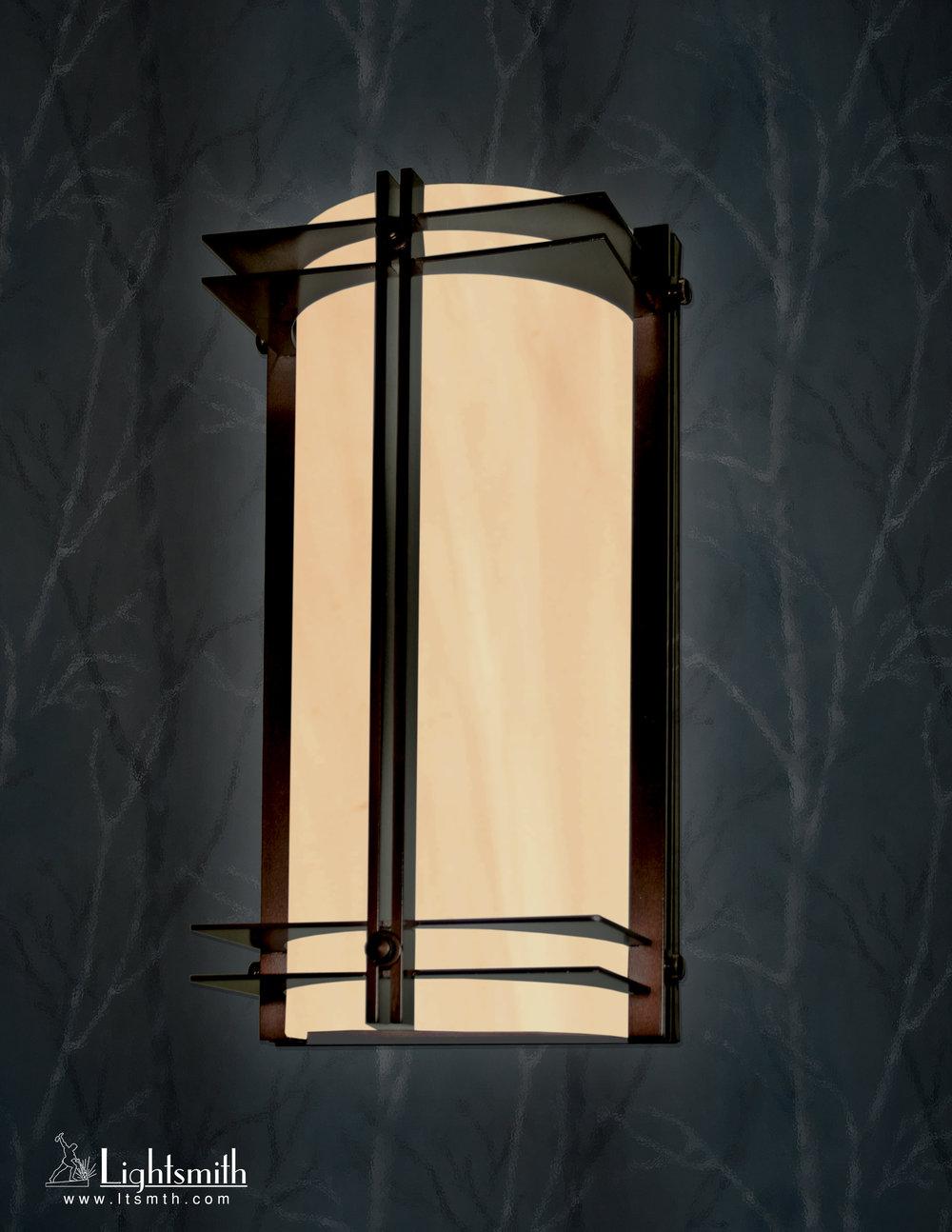 SC-8501 -Oil Rubbed Bronze -Beige Alabaster Acrylic