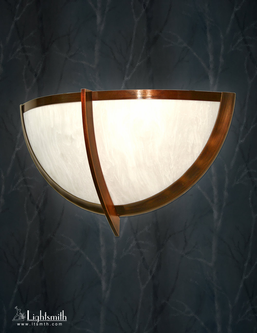 SC-7801 -Antique Bronze -White Alabaster Acrylic