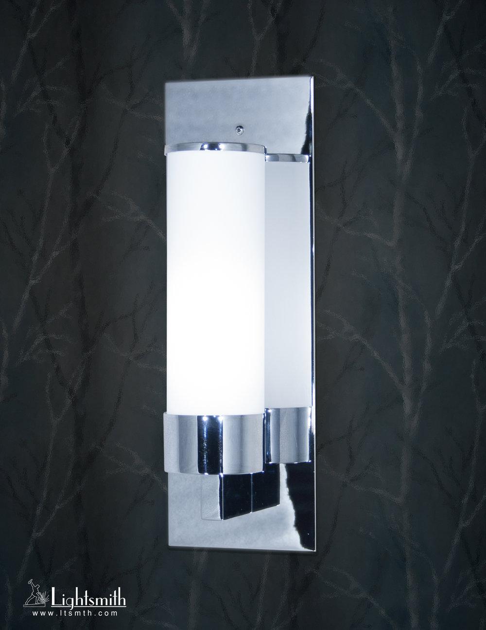 SC-2204 - Polished Chrome - White Opal Acrylic