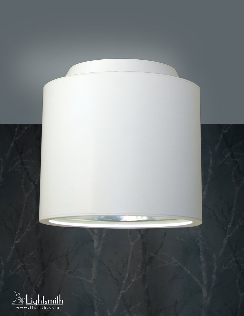 CL-10002 - Satin White - Clear Reflector