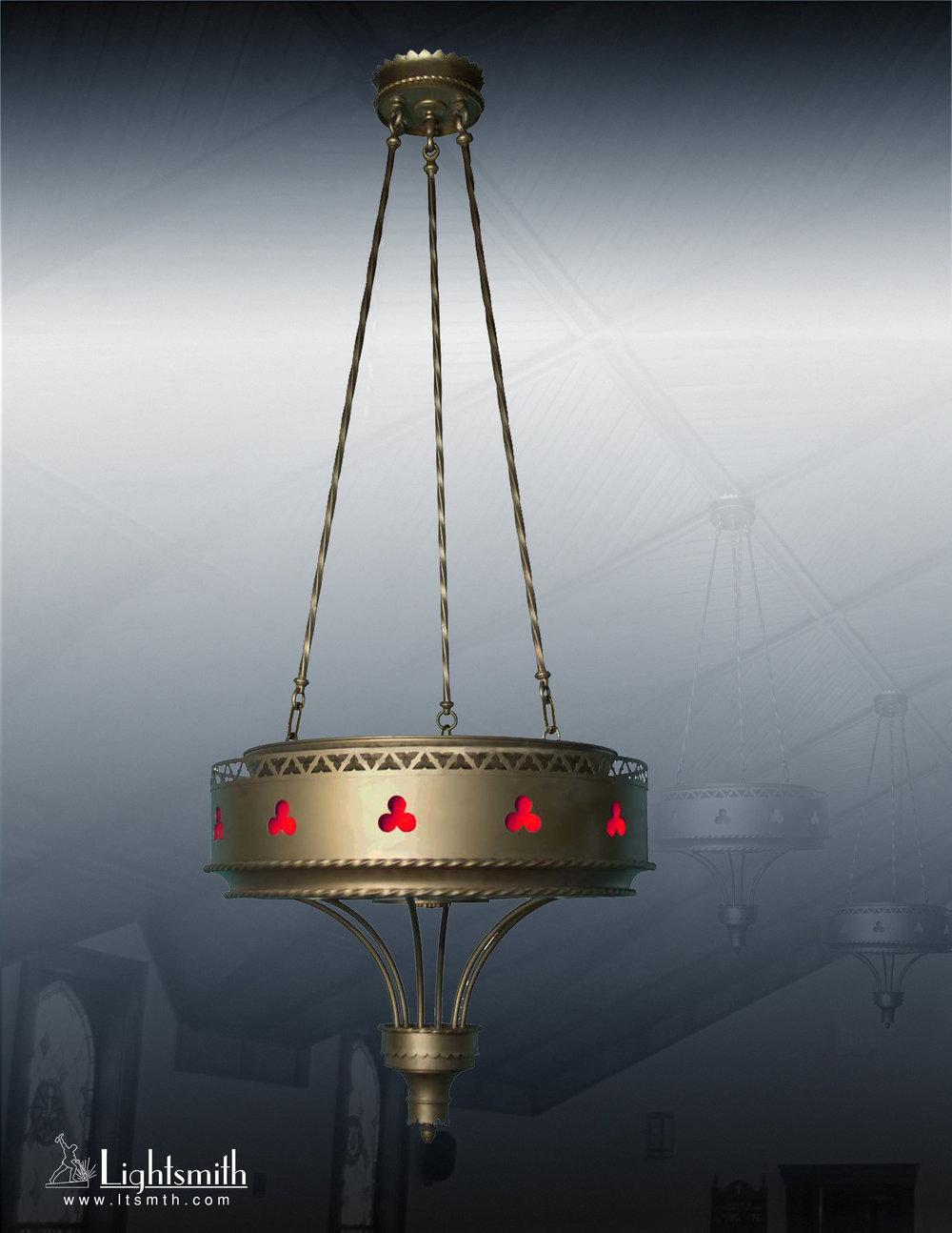 2212-PT - Light Bronze - Red Glass