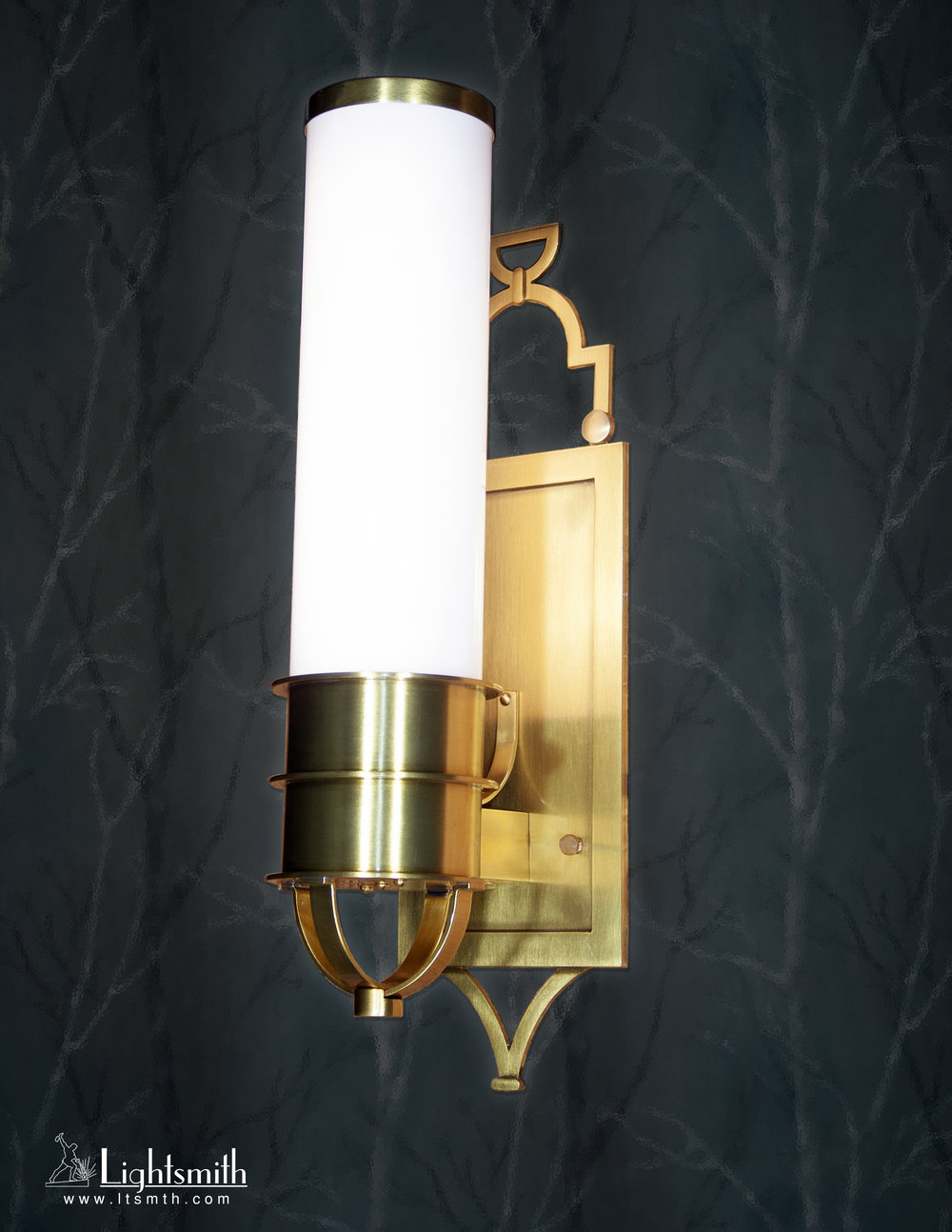 SC-11310 - Satin Brass - White Opal Acrylic