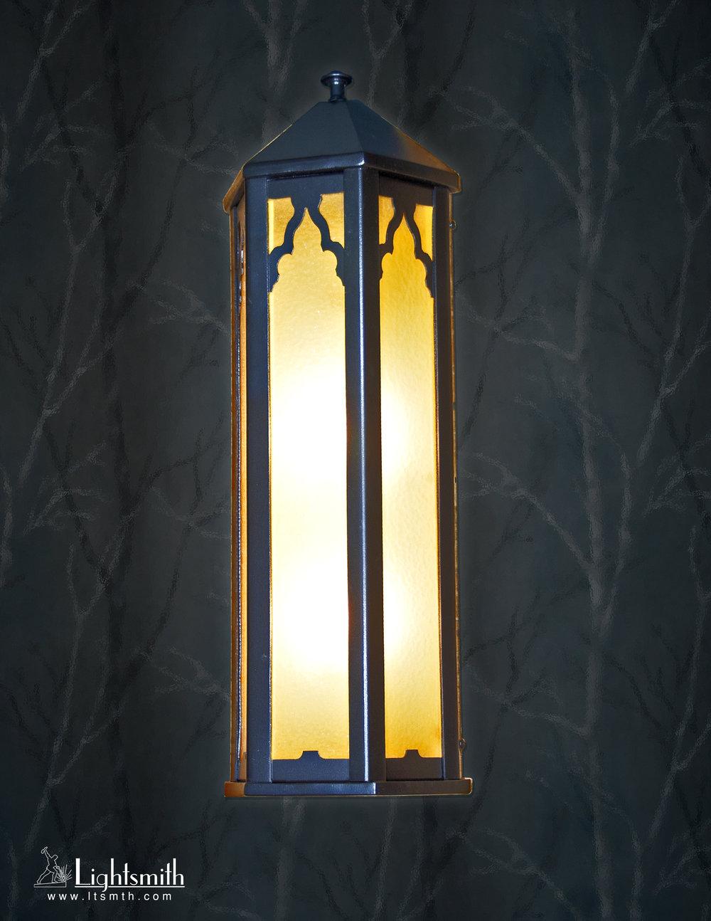 SC-11810 - Dark Bronze - Amber Glass Etched