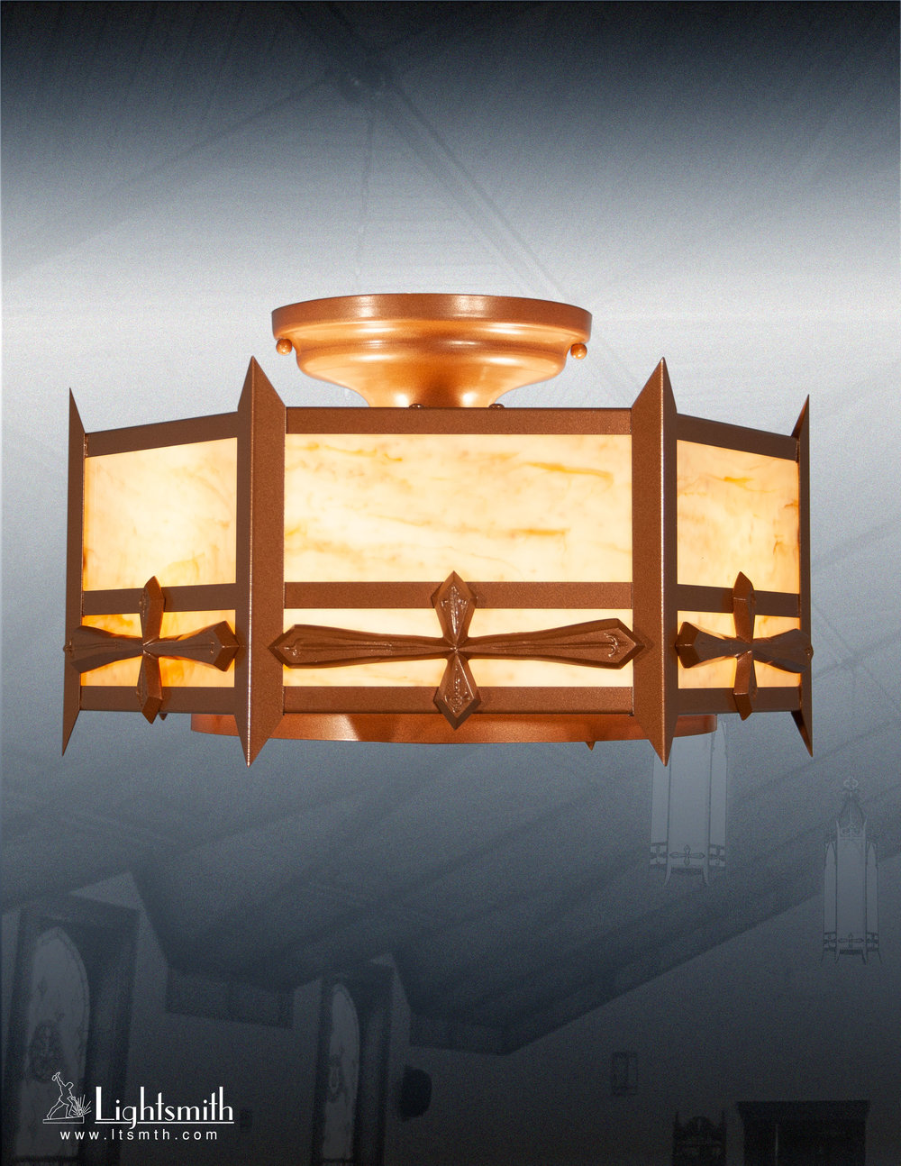 816-CT - Medium Bronze - Natural Horn Acrylic