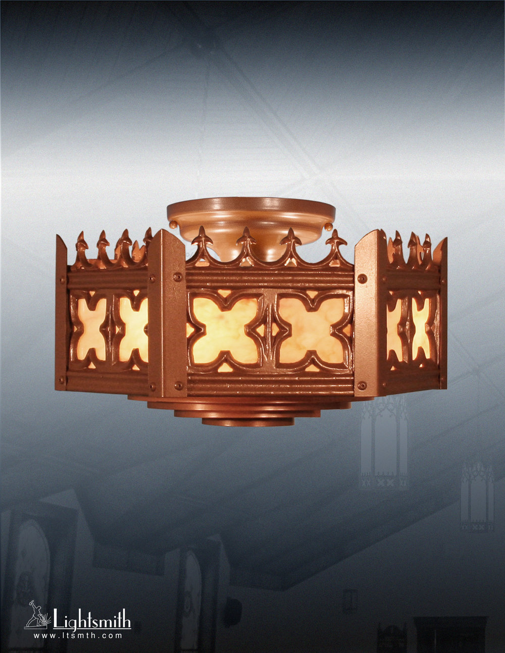 10116-CT - Medium Bronze - Natural Horn Acrylic