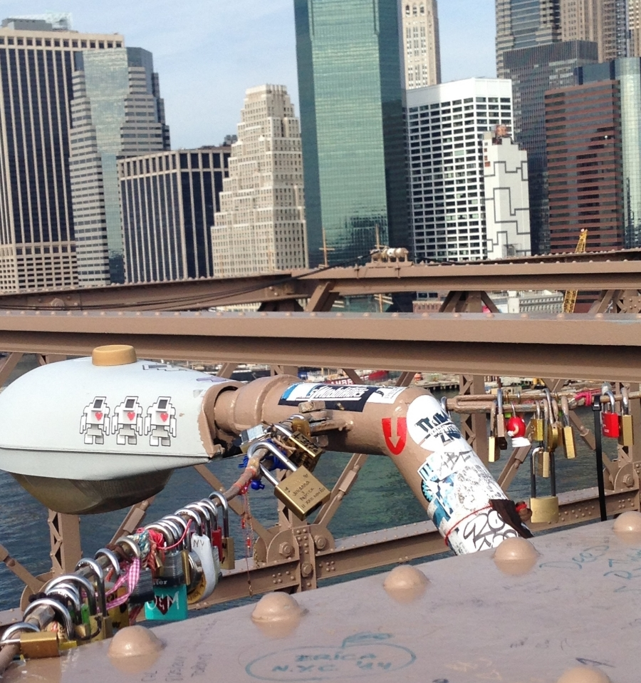 "Despite pleas by NYC government to stop, couples keep leaving ""love locks"" on the Brooklyn bridge.  As long as the locks (and bridge) endure, so will their love.  Swoon!"