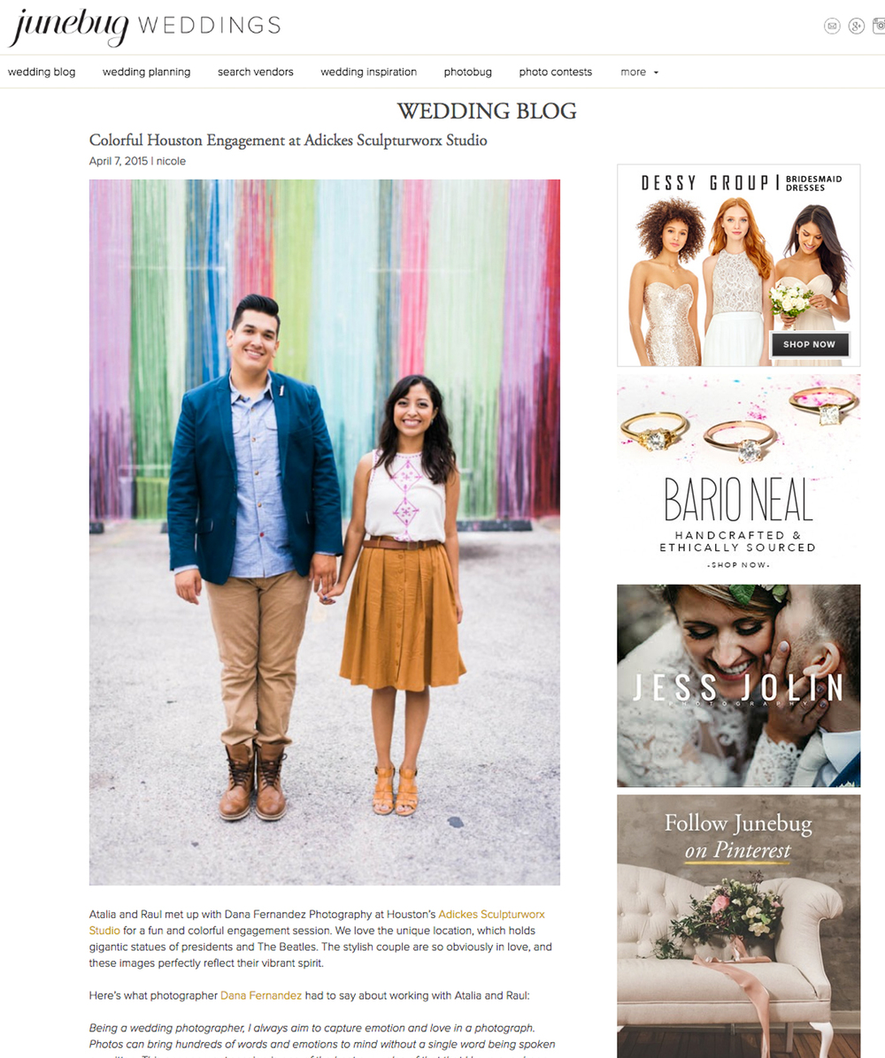 Junebug Weddings | Apr '15 (Engagements)