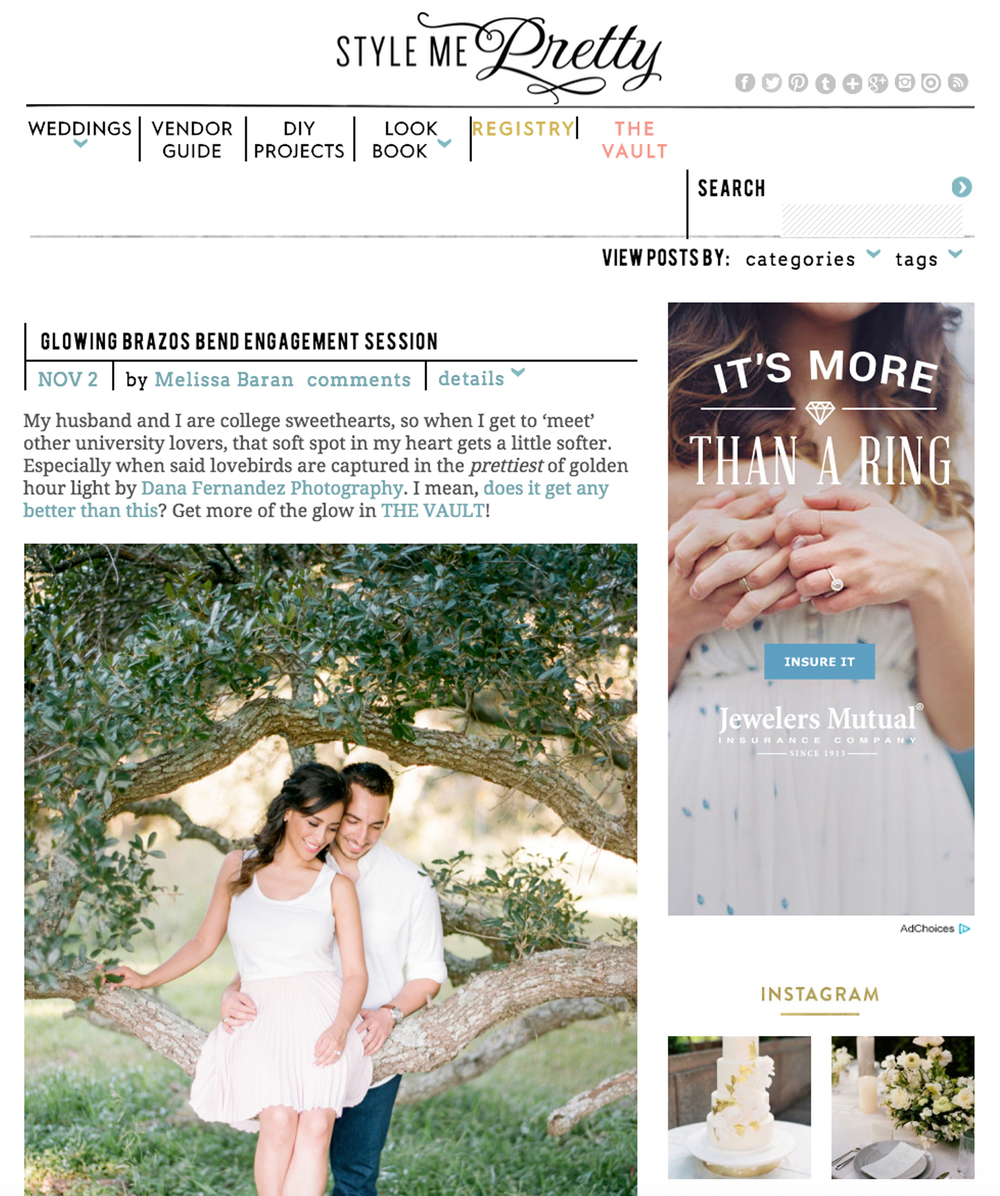 Style Me Pretty | Nov '15 (Engagements)