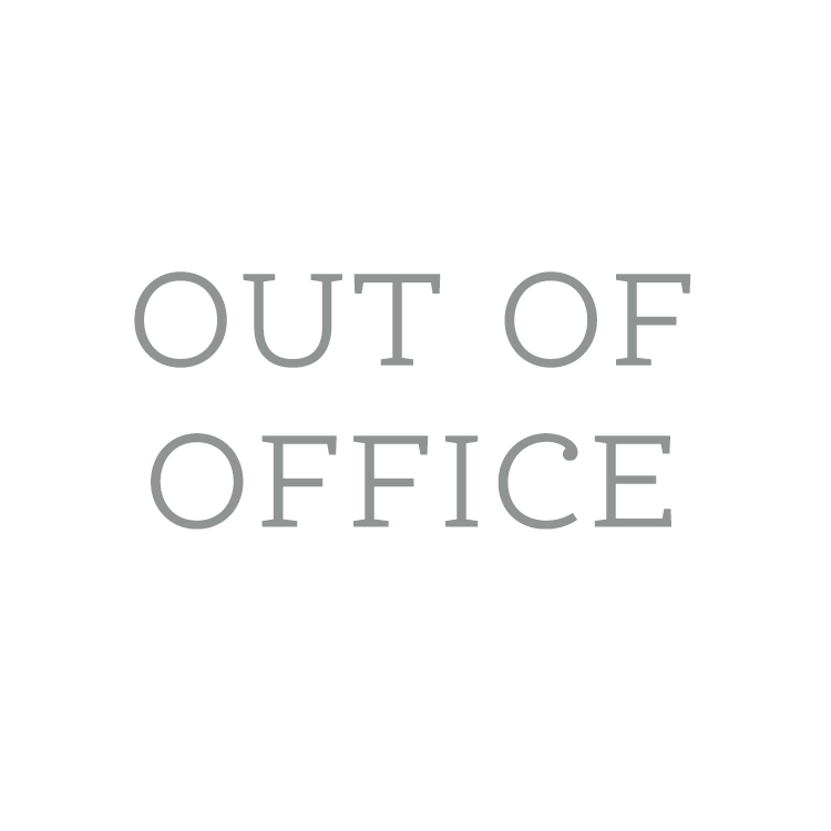 Out of office on vacation